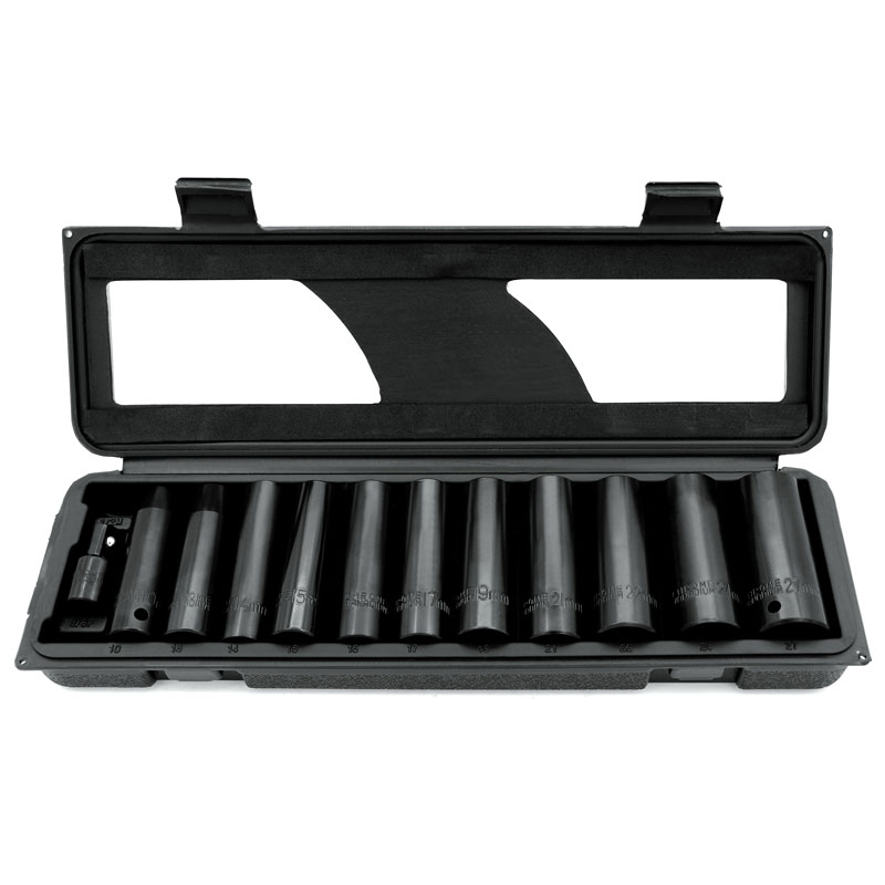 12 Piece Metric Deep Impact Socket Set
