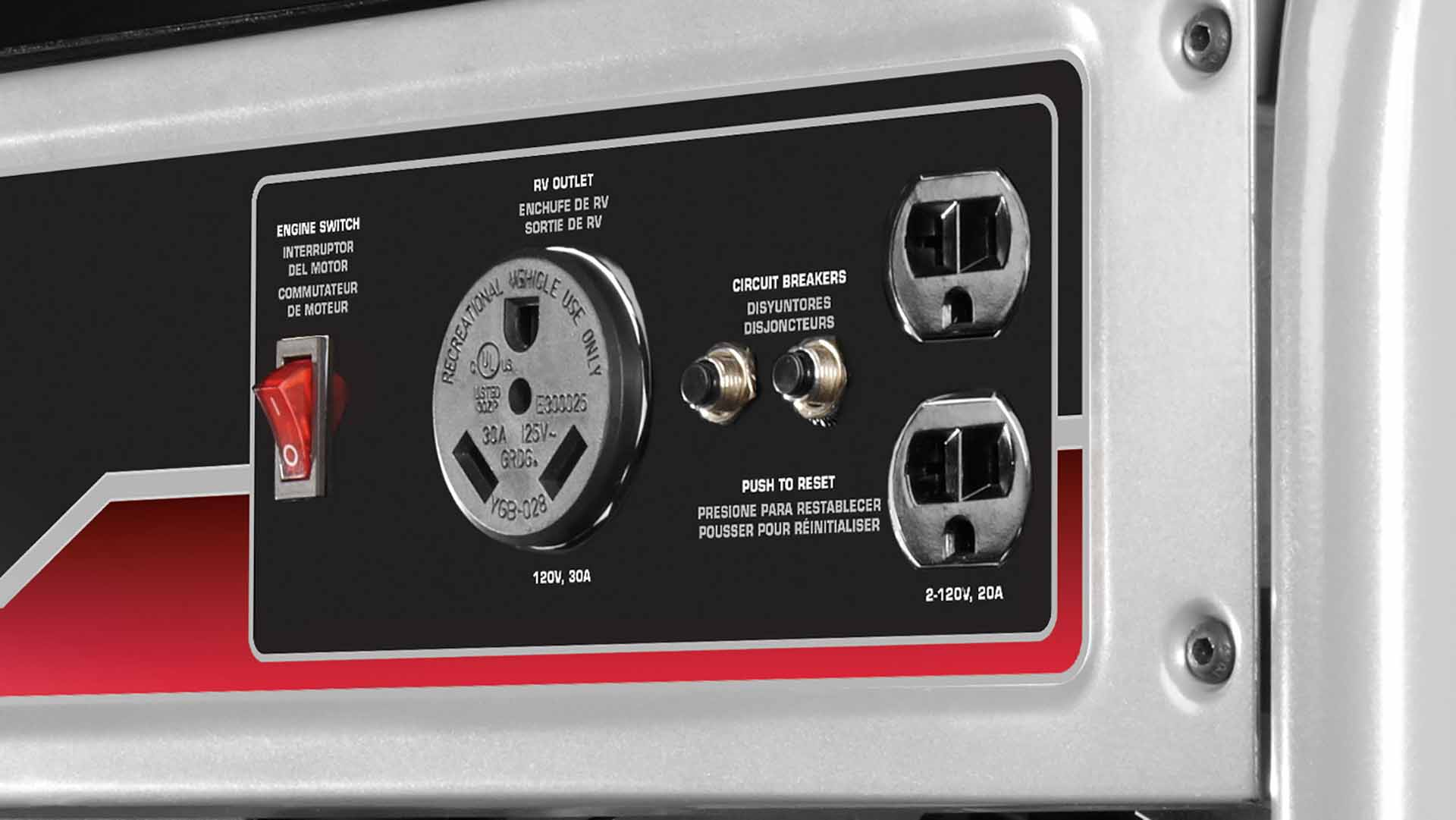 3500 Watt Portable Generator Diagram Parts List For Model 92500to9259901100280 Briggsstratton Multi Featured Control Panel With Rv Outlet