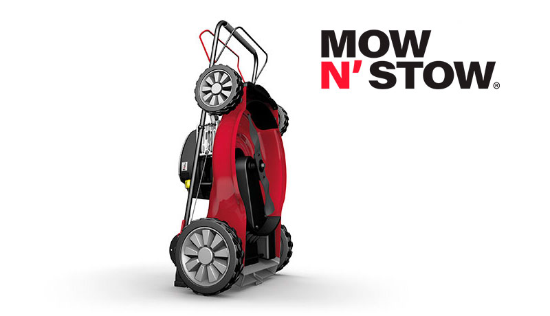 Mower with Mow N'Stow