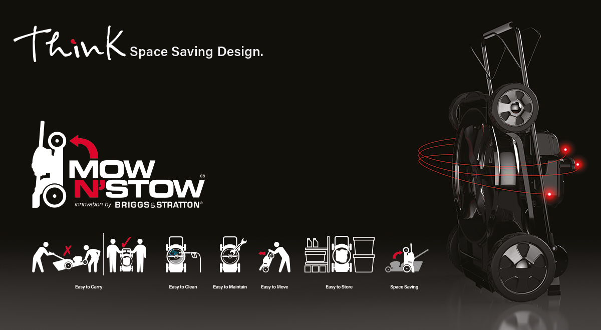 Mow N'Stow - Save Space