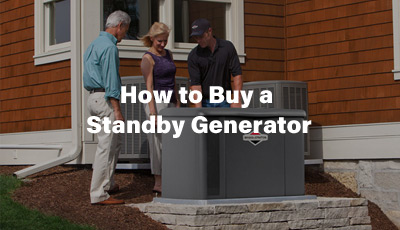 How to Buy a Standby Generator