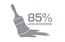 Commitment To Sustainability – 85% Less Emissions