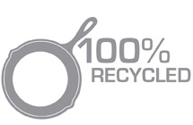 Commitment To Sustainability – 100% Recycled Cast Iron