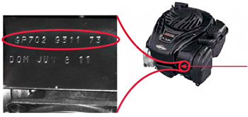 Push Mower Engine Model Number Location
