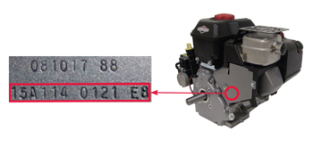 Snow Blower Engine Model Number Location
