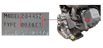 Utility Mower Engine Model Number Location