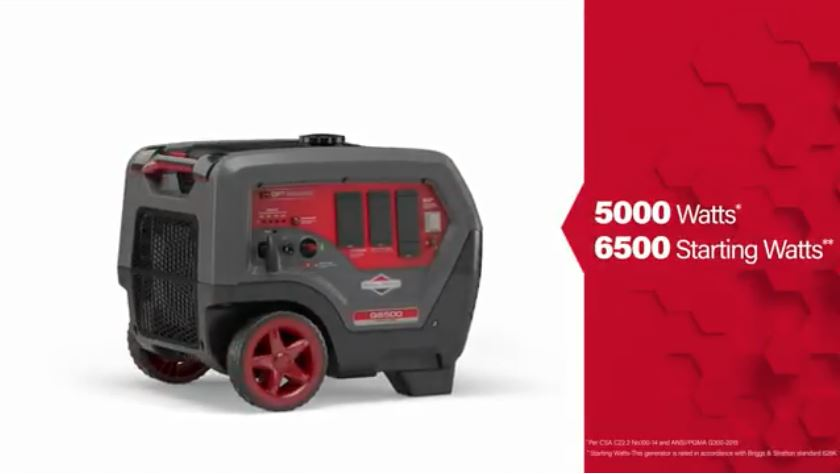 Briggs & Stratton Q6500 QuietPower™ Series Inverter Generator | Briggs & ...