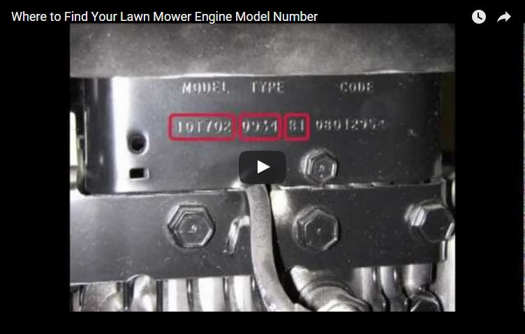 How To Find Lawn Mower Engine Model Number | Briggs & Stratton