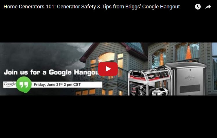 Home Generators 101: Generator Safety and Tips | Briggs & Stratton