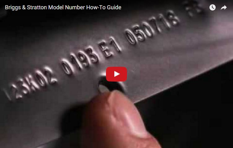 Find Small Engine Model Numbers | Briggs & Stratton