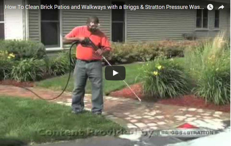 How To Clean Brick Patios U0026 Walkways With A Pressure Washer | Briggs U0026  Stratton