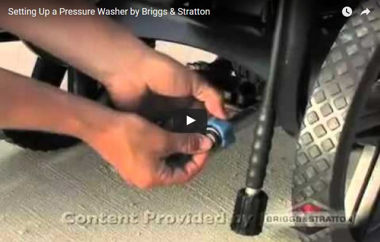 How To Set Up A Pressure Washer Briggs Stratton