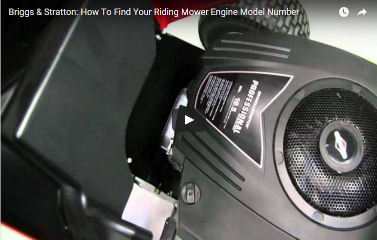 How To Find Riding Mower Engine Model Number Briggs