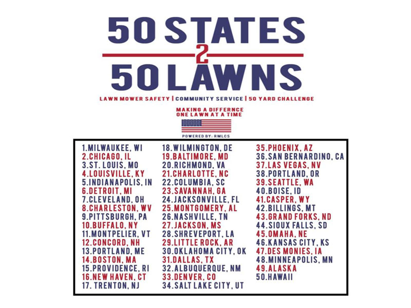 50 Lawns Serviced