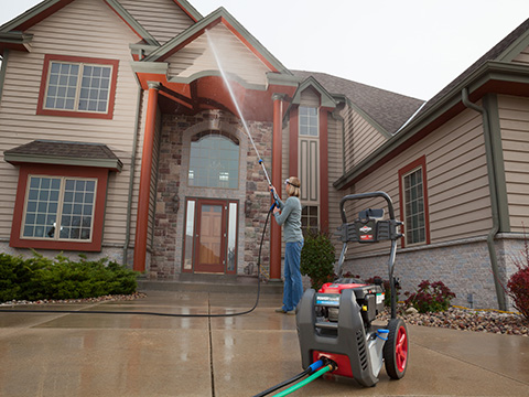 powerflow pressure washer cleaning siding