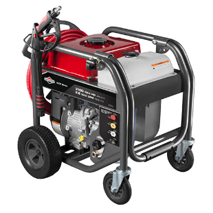 Briggs & Stratton 3100 MAX PSI / 2.8 MAX GPM with 4-Wheel Design for Easy...